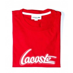 Remera roja graphic Lacoste