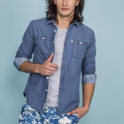 Camisa PENGUIN DENIM W/2 Azul